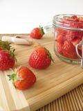 Sugared strawberries Stock Image