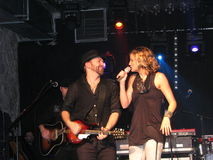 Sugarland Duo in Concert royalty free stock photography