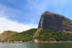 Sugarloaf from Atlantic ocean, Rio de Janeiro Royalty Free Stock Images