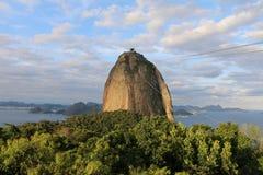 Sugarloaf berg, Pão de Açúcar Rio de Janeiro Royaltyfria Foton