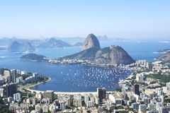 Sugarloaf Berg in Rio de Janeiro, Brasilien Stockfotos