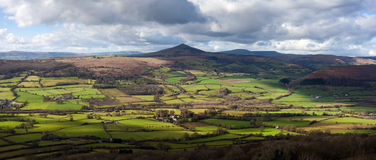Sugarloaf berg Wales Royaltyfria Foton