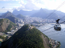 Sugarloaf cable car Royalty Free Stock Photo