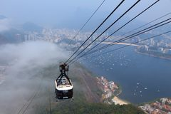 Sugarloaf cable car Royalty Free Stock Photography