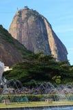 Sugarloaf with fountain, Rio de Janeiro Stock Photo