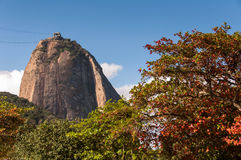Sugarloaf Mountain and Autumn Colors Royalty Free Stock Photography