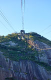 Sugarloaf mountain. Cable car going up to sugarloaf mountain Royalty Free Stock Photos