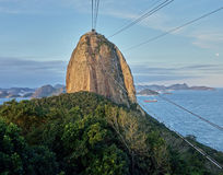 Sugarloaf mountain. Cable car going up to sugar loaf mountain Royalty Free Stock Images