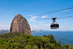 Sugarloaf Mountain and the Cable Car Stock Images