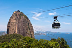 Sugarloaf Mountain and the Cable Car Stock Photography
