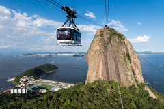 Sugarloaf Mountain and the Cable Car Royalty Free Stock Photos