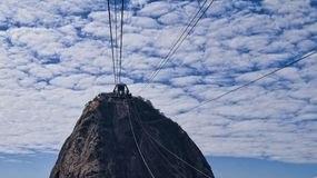 Sugarloaf Mountain Cable Car Lines Stock Image