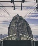 Sugarloaf mountain cable car in Rio de Janeiro stock photos