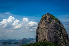 Sugarloaf mountain with clouds royalty free stock photography