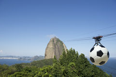Sugarloaf Mountain Football Cable Car Rio Royalty Free Stock Photo