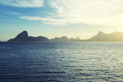 Sugarloaf Mountain Guanabara Bay Rio from Niteroi Stock Images