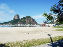 Sugarloaf Mountain in Guanabara Bay Royalty Free Stock Photography
