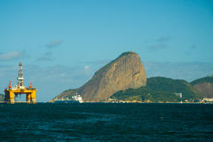 Sugarloaf mountain in Rio de Janeiro Royalty Free Stock Photography