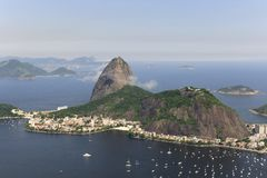 Sugarloaf Mountain in Rio de Janeiro. Aerial view of Sugarloaf Mountain in Rio de Janeiro Stock Photography