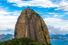 The Sugarloaf Mountain in Rio de Janeiro, Brazil Royalty Free Stock Images