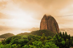 Sugarloaf mountain Rio De Janerio Brazil Royalty Free Stock Photography