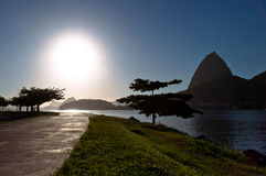 Sugarloaf Mountain Silhouette Royalty Free Stock Photography