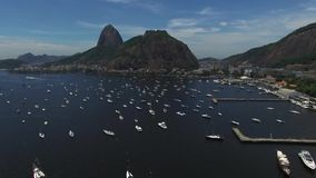 Sugarloaf Mountain in summer time in Rio de Janeiro, Brazil.  stock footage