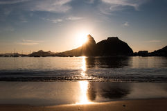 Sugarloaf Mountain by Sunrise Stock Images