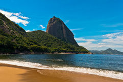 Sugarloaf Mountain view from the Beach Royalty Free Stock Image
