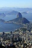 Sugarloaf na cidade da maravilha de Rio de Janeiro, Brasil Fotografia de Stock