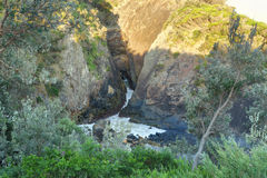 Sugarloaf Point sea chasm cave Royalty Free Stock Image
