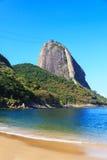 Sugarloaf Red beach (praia Vermelha) Rio de Janeiro, Brazil Royalty Free Stock Photo