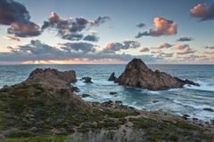 Sugarloaf Rock on Cape Naturaliste Royalty Free Stock Photos