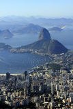 Sugarloaf at wonder city of Rio de Janeiro, Brazil Stock Photography