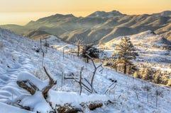 Sugarloafberg in de Lentesneeuw die wordt behandeld Stock Foto