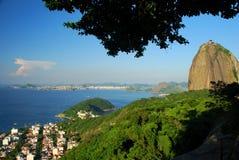Sugarloafberg van Morro DA Urca wordt gezien die Rio de Janeiro, Brazilië Stock Afbeeldingen
