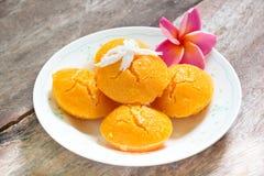 Sugarpalm kaka med kokosnöten Fotografering för Bildbyråer