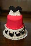 Sugarpaste cake in mini-mouse shape. Royalty Free Stock Photos