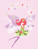 Sugarplum Fairy. A christmas fairy spreading a sparkling shower of holiday treats royalty free illustration