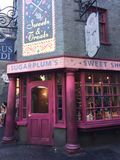 Sugarplums Sweet Shop in Harry Potter World Stock Images