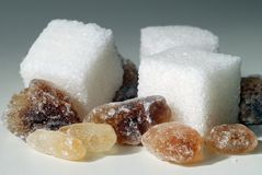 Sugars royalty free stock images