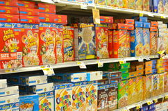 Sugary Breakfast Cereals Stock Photography