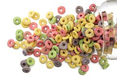 Sugary cereals Royalty Free Stock Image