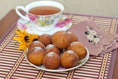 Sugary Donut Holes Stock Photo