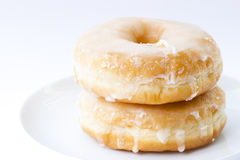 Sugary donut isolated Stock Images