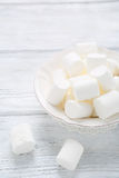 Sugary marshmallows on a bowl Royalty Free Stock Photos