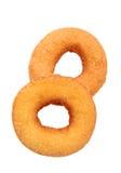 Sugary ring donut. Isolated on white background Stock Image