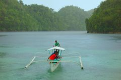 Sugba Lagoon. On the island of Siargao, Philippines Stock Photography