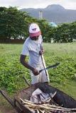 Suger Cane Seller Dominican Republic Fotografering för Bildbyråer
