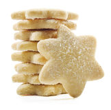 Suger coated shortbread cookies in star shapes Stock Photo